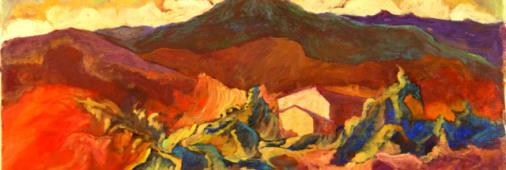 Monte Battaglia - olio su tela cm. 50x40-il periodo rosso