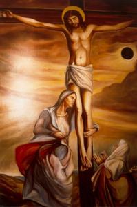 Crocefisione - olio su tela cm. 120x200 - Chiesa Parrocchiale di Fontanelice
