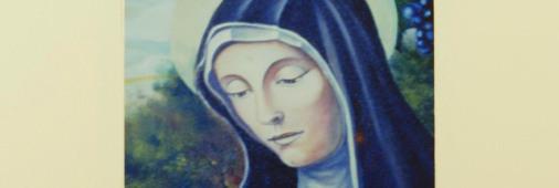 Particolare di Santa Rita, olio su tela cm. 100x150 - Chiesa Parrocchiale di Fontanelice 1988