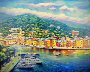 Portofino, olio su tela cm. 100x80